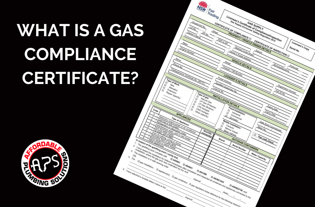 gas compliance certificate NSW